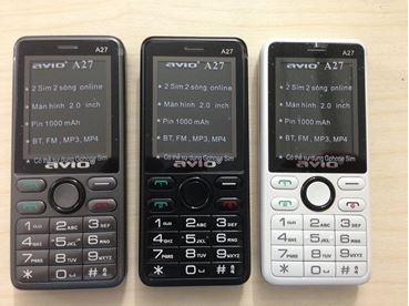 Hình ảnh củaMáy Điện Thoại Gphone Vnpt 2 Sim 2 Sóng Avio A27 Giá Rẻ